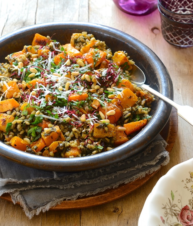butternut and swiss chard barley risotto recipe