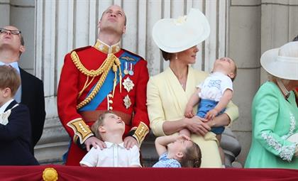The royal family at the Trooping of the Colour.