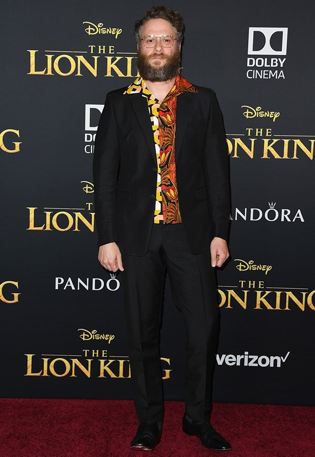 Seth Rogen at The Lion King premiere.