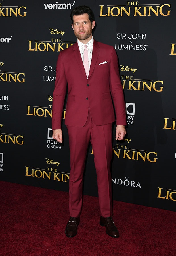 Billy Eichner at The Lion King premiere.