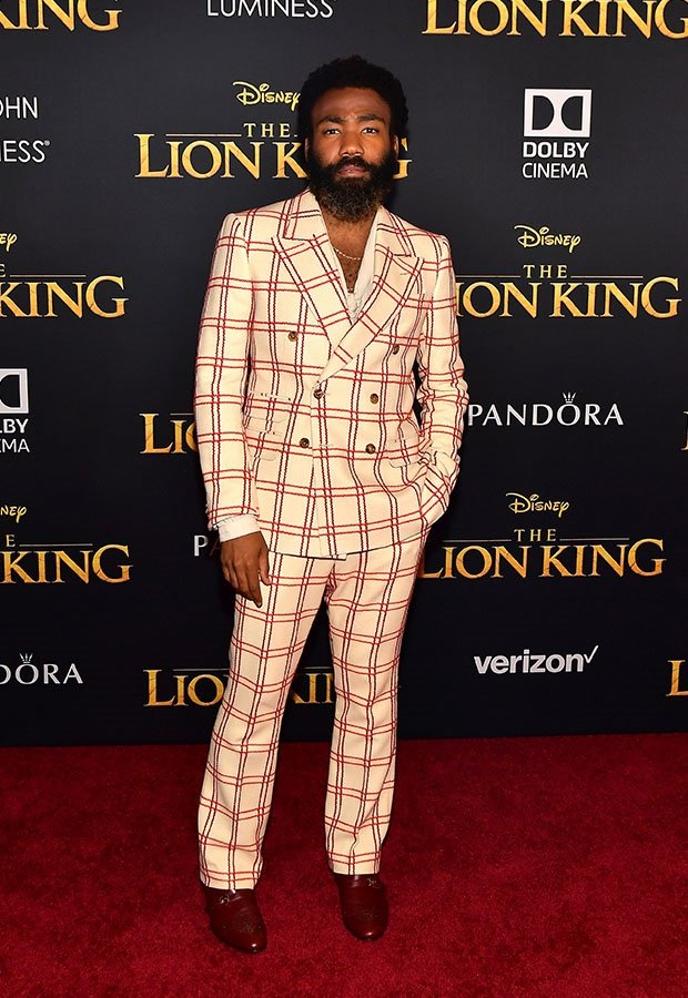 Donald Glover at The Lion King premiere.