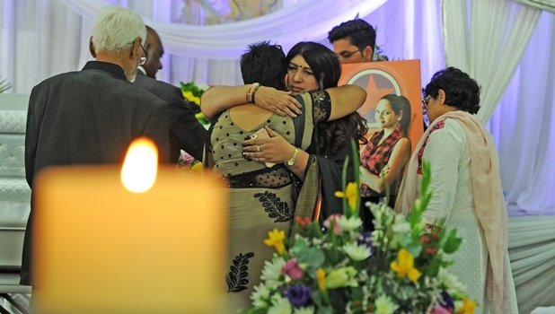 Family, friends and colleagues paid their respects to former Caxton journalist Yadhana Jadoo at the funeral held at the Gujurathi Vedic Society Hall on Monday. Jadoo died in Egypt two weeks ago.