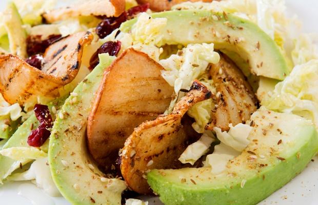 freshly made avocado salad