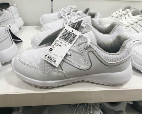 children's white trainers