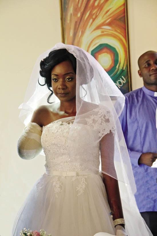 Zanele Ndlovu op haar troudag.
