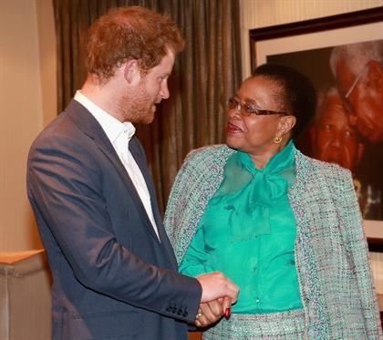 Prince Harry and Graca Machel