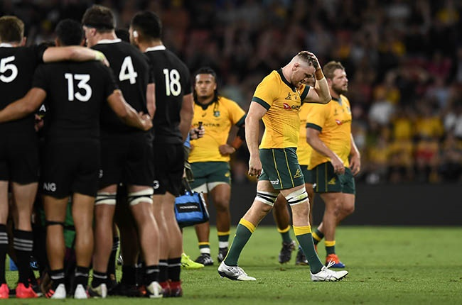 Lachie Swinton is sent off against the All Blacks in Brisbane on 7 November 2020.