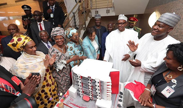 buhari commissions EFCC building in Abuja