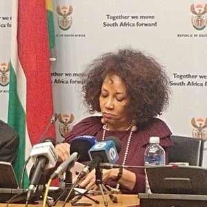 Minister of International Relationships and Cooperation Lindiwe Sisulu. (Jan Gerber/News24)