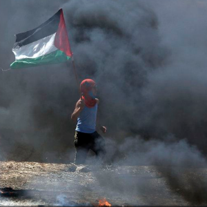 A protesting Palestinian. (AFP)