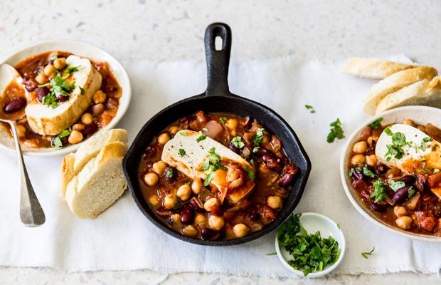 Pan of vegan meal