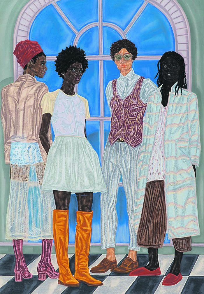 This Nigerian-born artist explores black skin through her work