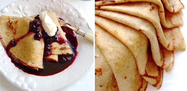 recipe, pancakes, berries