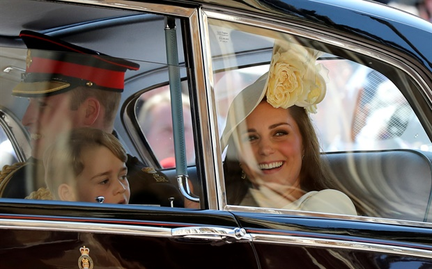 <p>Prince William, Duchess Kate and the kids leave St George's Chapel looking happy as can be.</p><p></p>