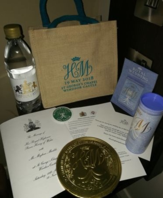 Harry and Meghan's gift bag