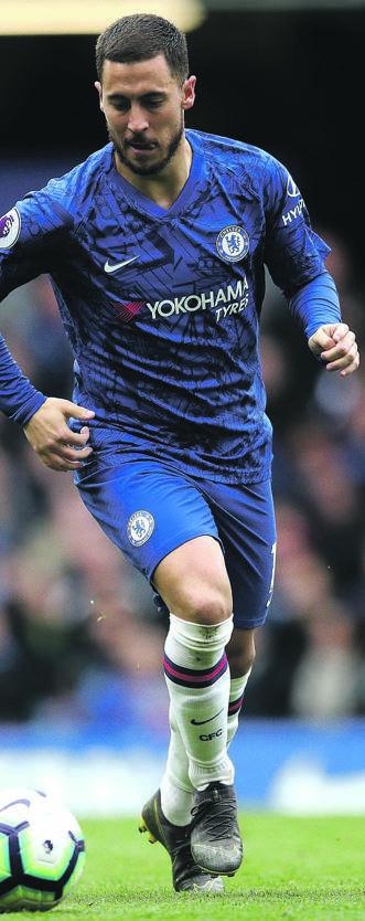 €100m MAN Chelsea's Eden Hazard. Picture: Backpage Sport