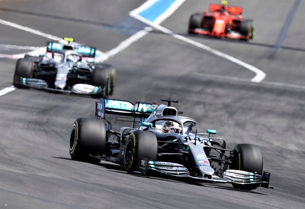 Lewis Hamilton dominated the Paul Richard circuit to grab yet another Mercedes one-two victory.