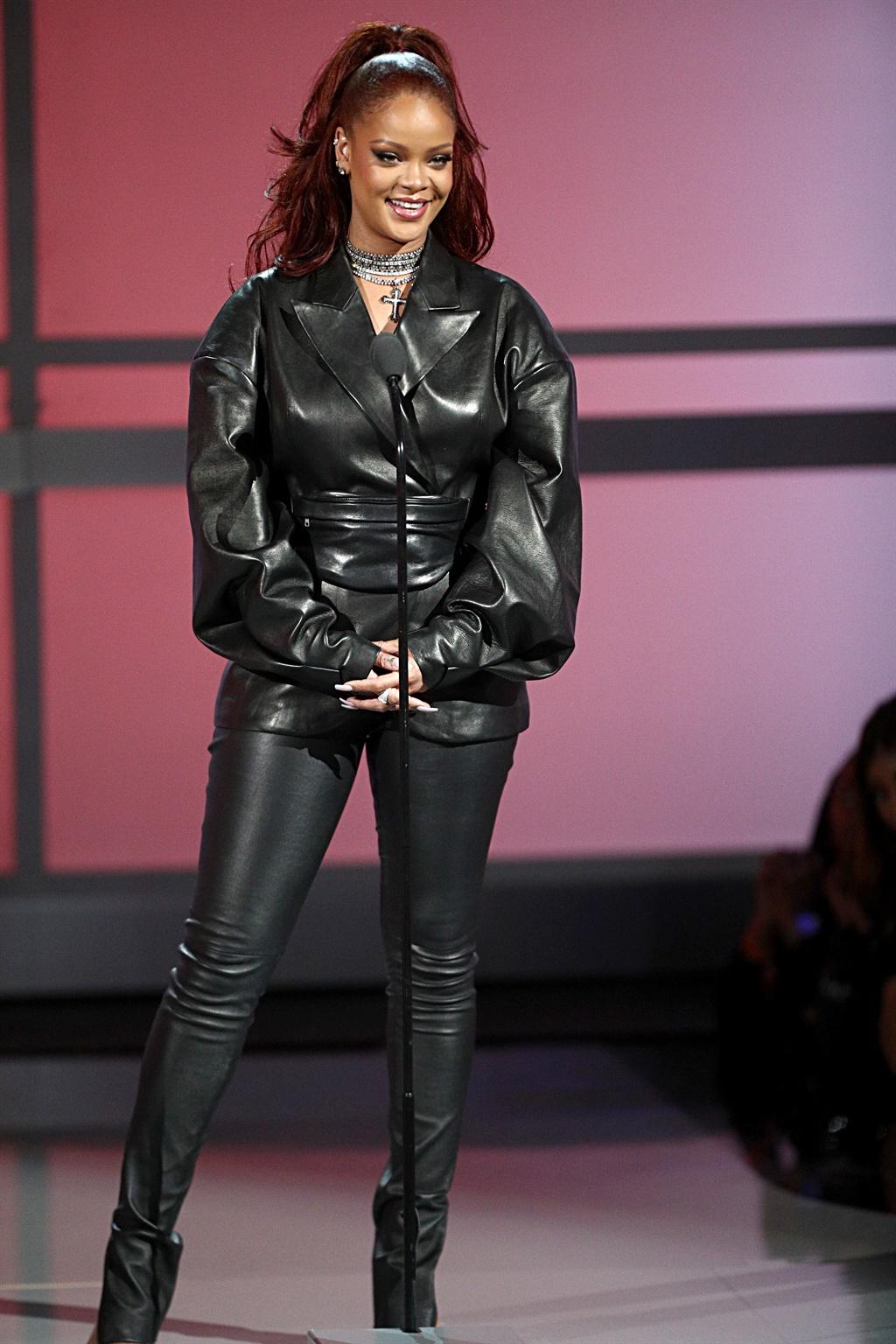 LOS ANGELES, CALIFORNIA - JUNE 23: Rihanna speaks