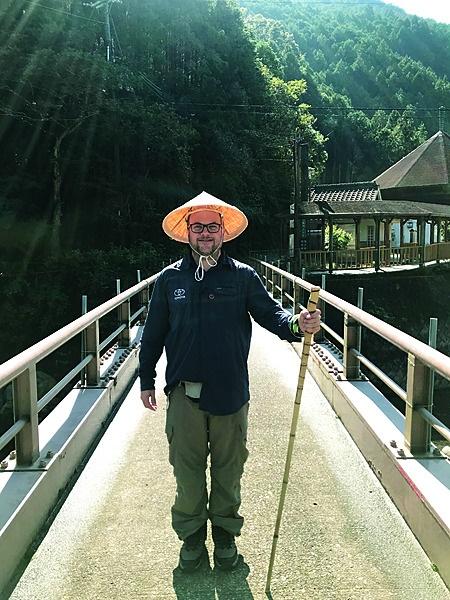 Op die Kumano Kodo-pelgrimstog in Japan. Foto: Ro
