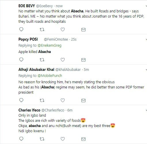 Abacha trending because of Buhari comment