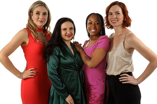 Carine Rous, Nina Hastie, Refilwe Madumo and Anel Alexander in 'Inconceivable.'