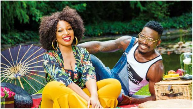 Phindile Gwala and fiancé Armando Ngandu (PHOTO: Onkgopotse Koloti)
