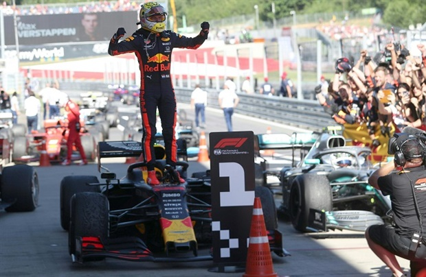 Red Bull's Max Verstappen grabbed an epic victory at the Austrian GP with an incredible wheel-to-wheel battle with Ferrari's Charles Leclerc.