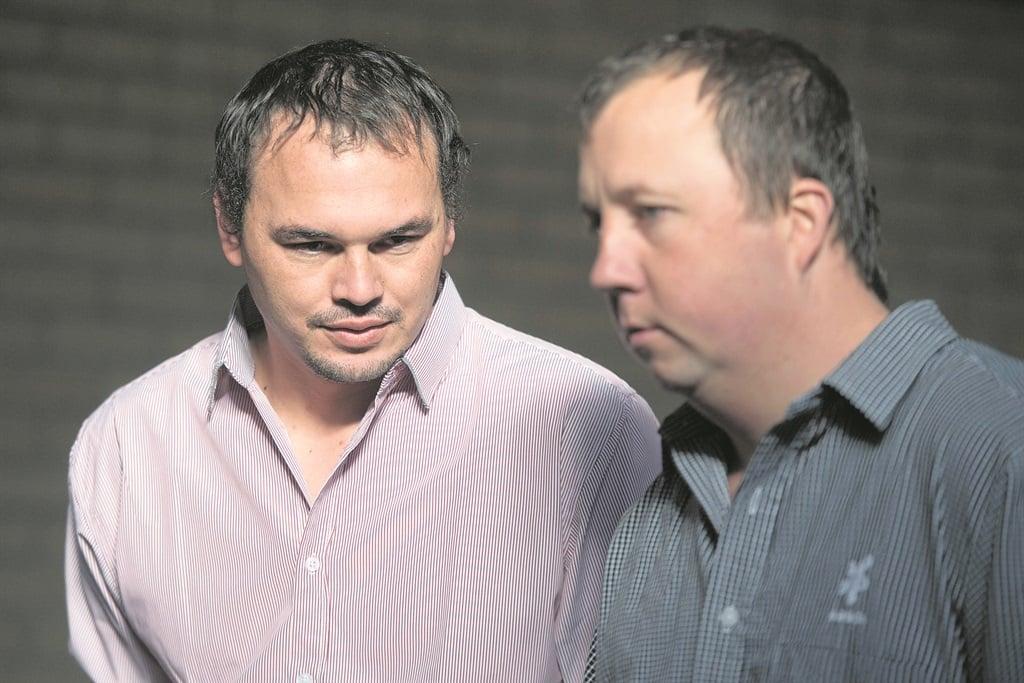 Willem Oosthuizen and Theo Jackson appear in court in Middelburg in June. Picture Deaan Vivier/Netwerk24
