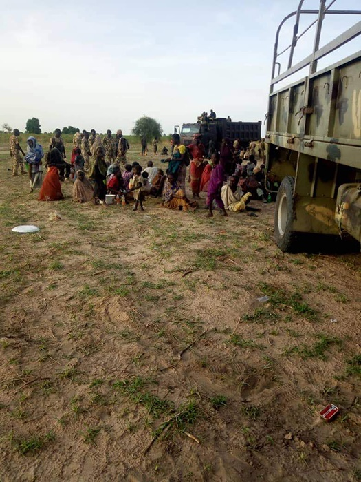 women and pregnant girls rescued from boko haram