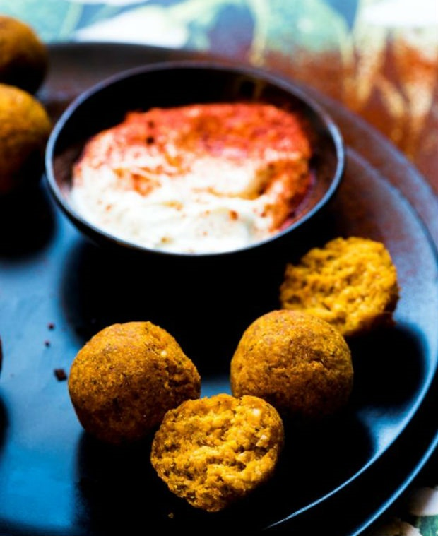 roasted butternut falafel recipe