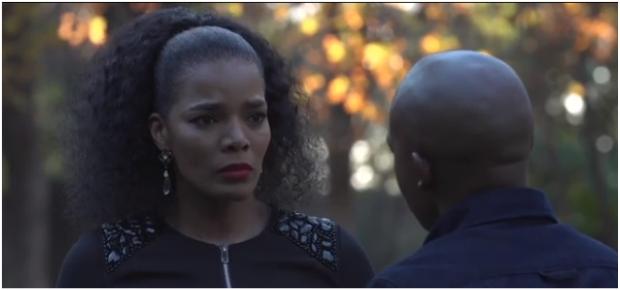 Connie Ferguson and Loyiso Macdonald on the set of