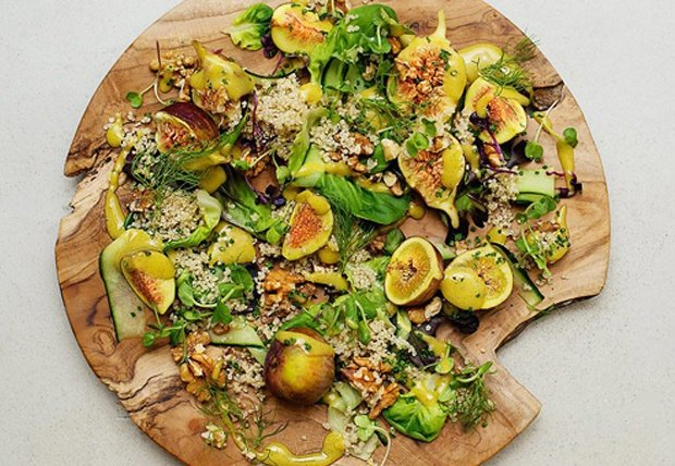 fig and quinoa salad with walnut
