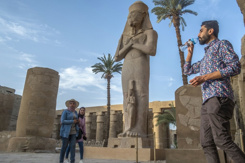 tourists in luxor