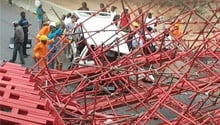 VIDEO: Chaos in aftermath of Grayston bridge collapse on M1, Joburg