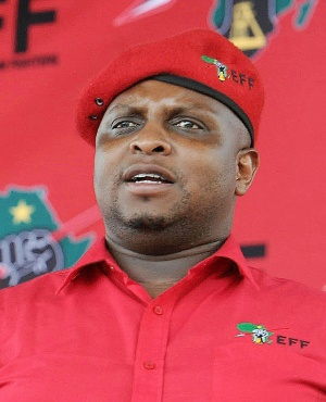 Floyd Shivambu during the party's Human Rights Day rally on March 21, 2018 in Mpumalanga. (Photo by Gallo Images / Sowetan / Veli Nhlapo)