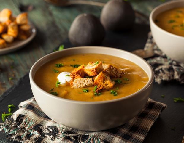 a warm bowl of butternut soup