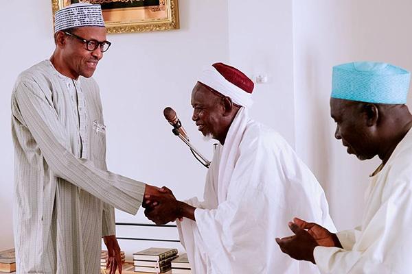 Buhari breaks fast