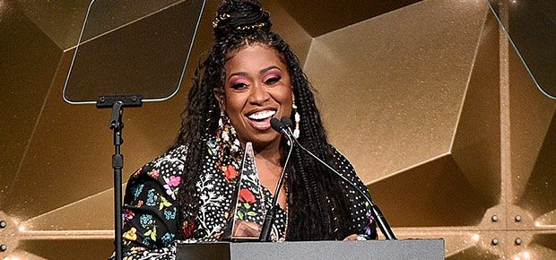 Missy Elliott speaks onstage during the Songwriter