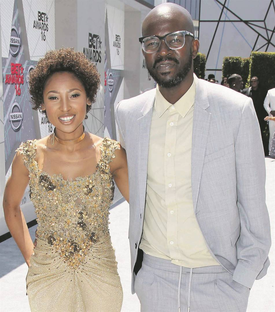 ON THE ROCKS? DJ Black Coffee and Enhle Mbali Maphumulo. Picture: Leon Bennett /            WireImage