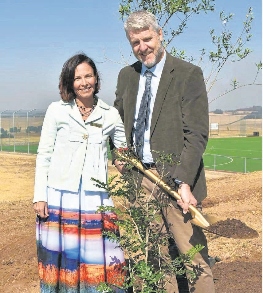 photo: suppliedWembley College's chairperson Michael Yeadon and his wife Louise planted a tree at the new indigenous bushland learning centre during the Founder's Day celebrations.
