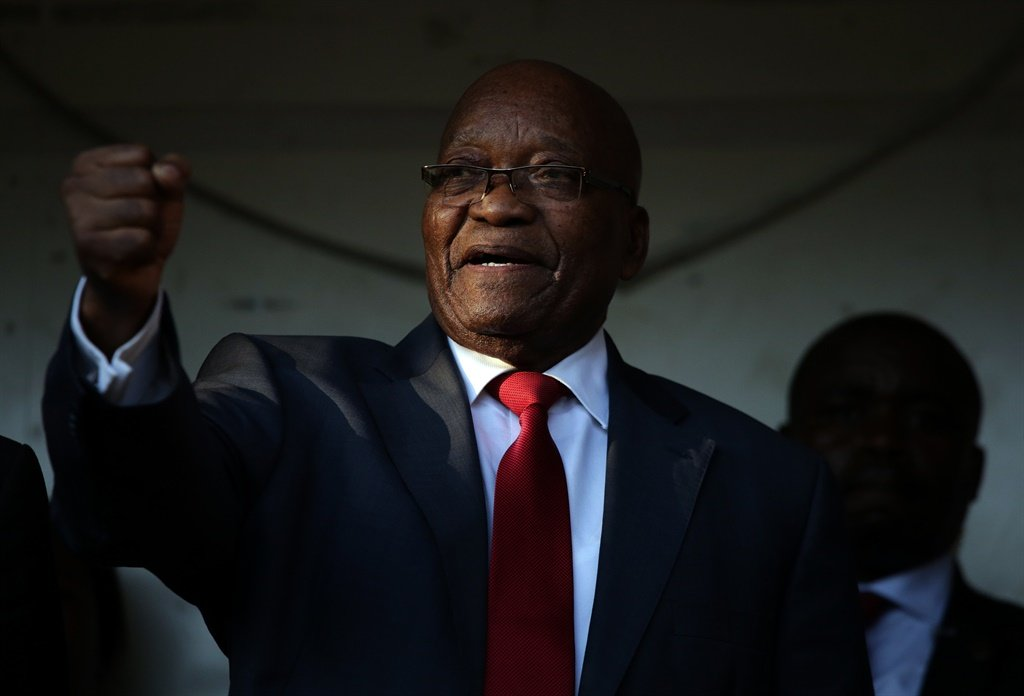 No longer above the law: former president Jacob Zuma outside the Pietermaritzburg High Court in 2019.