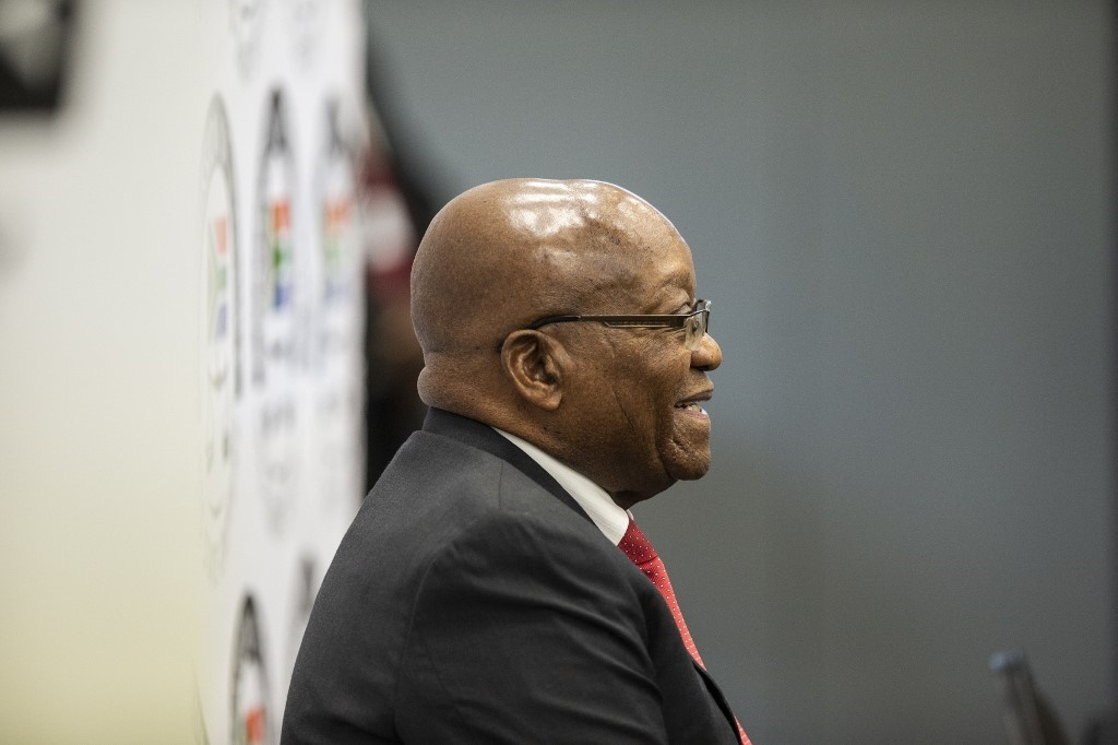 Former South African president Jacob Zuma appears before the Commission of Inquiry into State Capture in Johannesburg, where he faces tough questioning over allegations that he oversaw systematic looting of state funds while in power. (Wikus de Wet, AFP)