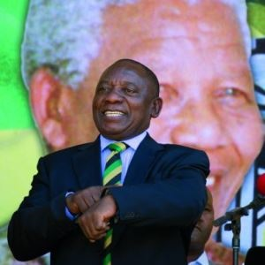 Cyril Ramaphosa is the president of South Africa