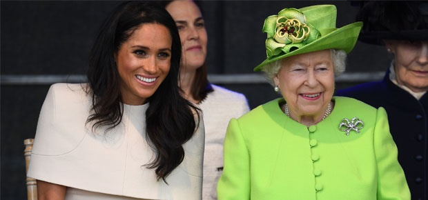 Duchess Meghan with Queen Elizabeth. (Photo: Getty Images)