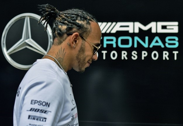 Mercedes British driver, Lewis Hamilton is pictured at the Interlagos racetrack in Sao Paulo, Brazil on November 14, ahead of the upcoming Formula One Brazilian Grand Prix on November 17. <i> Image: CARL DE SOUZA / AFP </i>