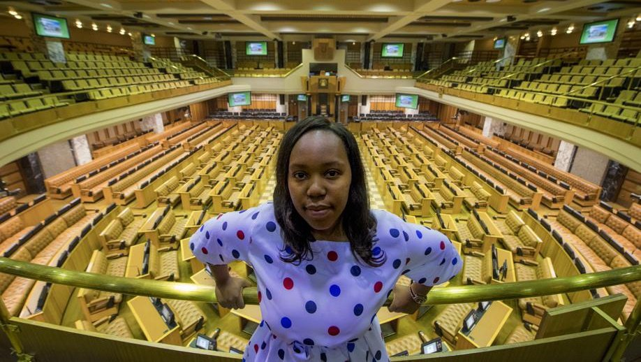 Born in 1992, Hlomela Bucwa is holding the youth flag high in Parliament. Picture: Jaco Marais
