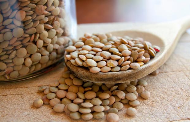 Spoon of lentils