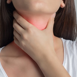 Adult sore throat and adenoids