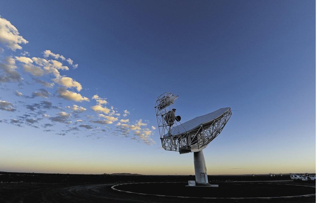 The MeerKAT telescope, a SKA precursor, in the Northern Cape. Photo: Jaco Marais