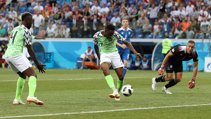 Musa Shines as super eagles crush Iceland